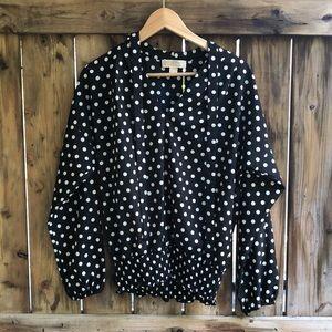 MICHAEL KORS 100% silk blouse size small